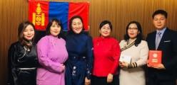 본교교사 몽골교육부(척철마 장관) 해외교사부문 표창상 수여(2018.2.7<수>)